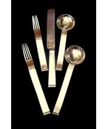 Siecle Paris Flatware Cutlery Silver Plate 5 Piece Place Setting J Hoffmann - $389.99