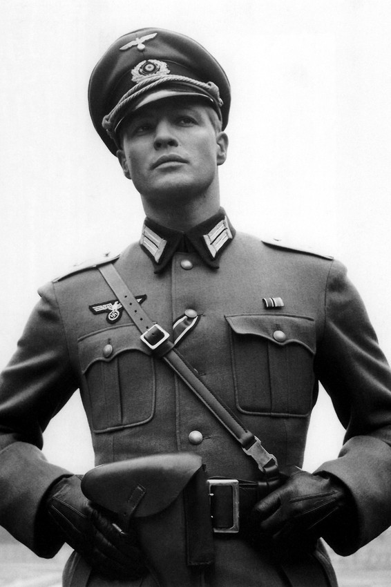 Primary image for Marlon Brando in The Young Lions in German World War 2 uniform 18x24 Poster