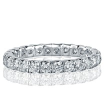 1 1/3 Carat Round Cut Diamond Eternity Wedding Band 18k White Gold - £1,588.50 GBP