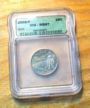 2002-P  ICG Graded MS67 Ohio State Quarter - $19.95