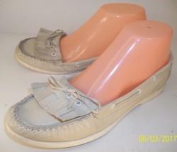 Aldo Wo's EU38 US7 Off-White Leather Slip-On Lo... - $37.04