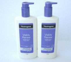 Neutrogena Visibly Renew Supple Touch Body Lotion Dry Skin 400ml Pump Lot of 2 - $29.95