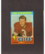 1971 Topps # 61 Jan Stenerud Kansas City Chiefs - $1.50