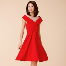 Red and Black color Plus Size US6-US16 2017 New Arrival sexy Elegant v n... - $45.90