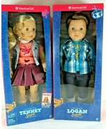 "PAIR NIB American Girl Doll 18"" Tenney & Logan Contemporary Characters L... - $288.09"