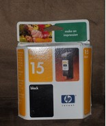 Hewlett Packard hp inkjet print cartridge 15 black - $10.97