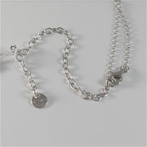 925 RHODIUM SILVER JACK&CO NECKLACE WITH 9KT ROSE GOLD LOVE HEART MADE IN ITALY image 4