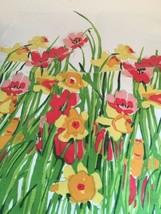 "Vera Vintage Kitchen Napkin Ladybug Spring Flowers 19 X 16 1/2"" - $9.89"