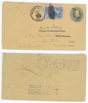 1899 Port Henry NY - West Newton MA Forwarded to Boston #230 Columbian C... - $4.94