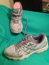 Asics Gel-VANISHER 8M Women's Running Shoes Mid GREY/CARBON Ice Green T75BQ-9693 - $26.92