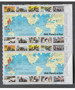 1945 Victory at Last, WWII stamps, Sheet of 32 ... - $8.00