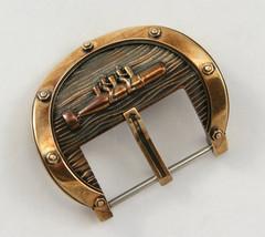 "Watch Buckle ""SABOTEURS"" For Watch Band Strap 24 mm Handmade Bronze  - $105.00"