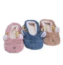 Women's 3 Pack Sherpa Lined Soft Christmas Holiday Reindeer Slippers Socks Shoes image 7