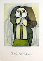"""Pablo Picasso """"Portrait De Femme A La Robe Vert... - $50.00"""