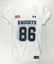 New Under Armour Knights Performance Football Jersey #86 Youth M White 1... - $13.26