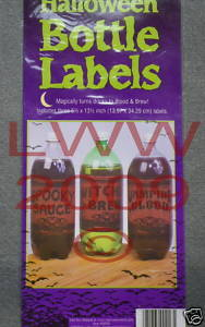 3 Large-sized Halloween Potion Bottle Sticker Labels