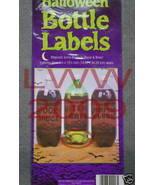 3 Large-sized Halloween Potion Bottle Sticker Labels  - $7.85