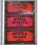 3 small-sized Halloween Potion Bottle Sticker Labels - $3.99