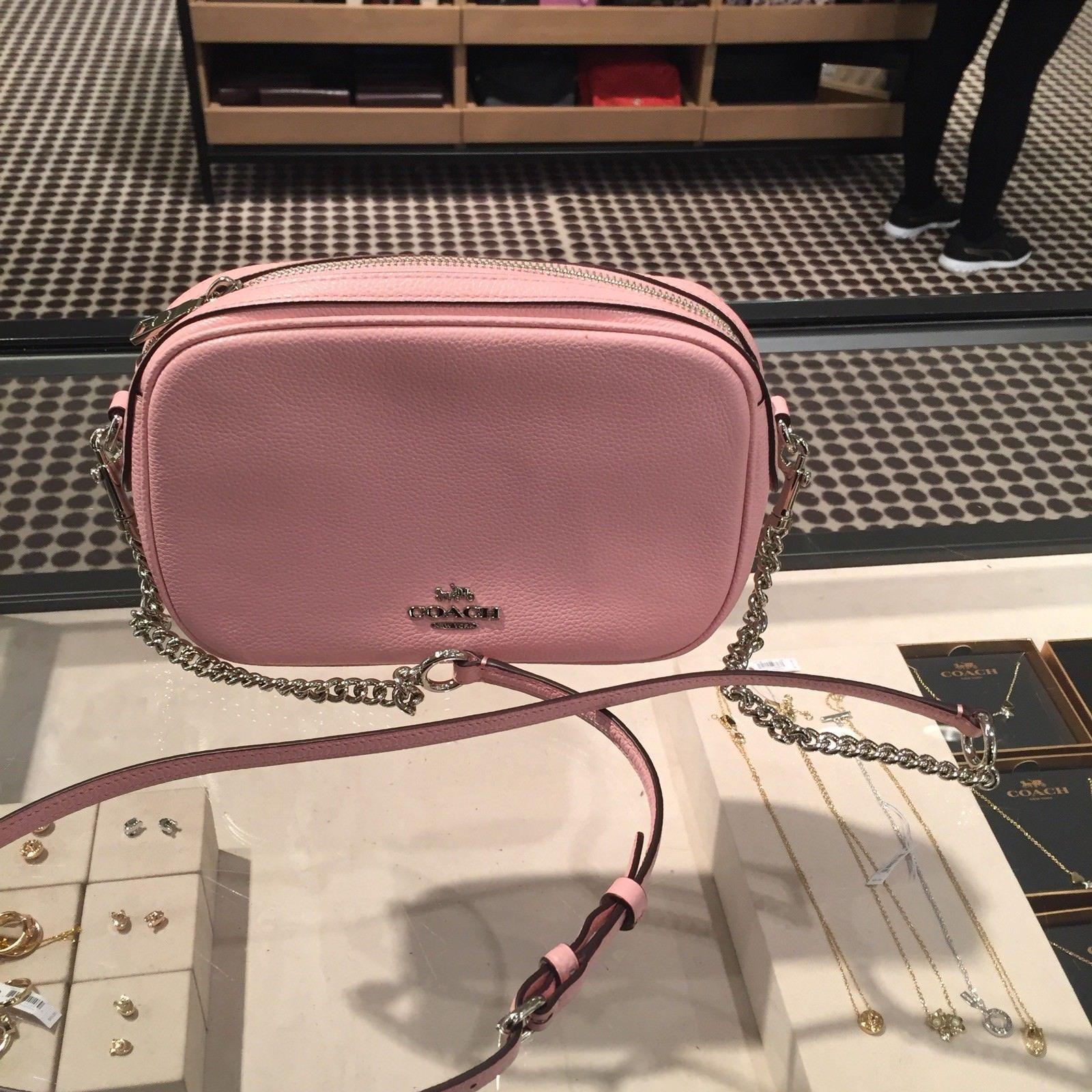 1fdc60528003 S l1600. S l1600. Previous. NWT Coach F25922 Women s Isla Chain Crossbody  Blush Comes With Gift Box