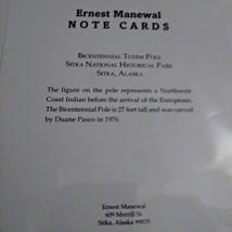 Ernest Manewal Note Cards Bicentennial Totem Pole Printed in Alaska Northwest Co image 2
