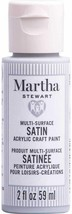 Martha Stewart Crafts Multi-Surface Satin Acrylic Paint, 2 oz, DOLPHIN GRAY - $9.89