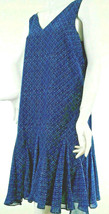 Lauren Ralph Lauren Sundress Womens Size 10 Blue Geometric Print Lined - €20,69 EUR