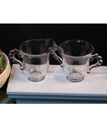 Imperial Candlewick Individual Cream and Sugar Set, Vintage Elegant Glass - $22.99