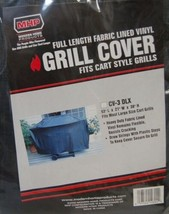 MHP CV3DLX Full Length Fabric Lined Vinyl Grill Cover Color Black Size Large image 2