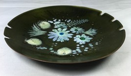 "Sascha Brastoff Signed Enamel on Copper 10"" Shallow Bowl Ashtray Mid Cen... - $29.02"