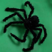 1PCs Fake Spider Prank Gift New Halloween Horrible Big Black Furry Spider Decor image 3