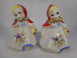 "Vintage Hull 3"" Red Riding Hood Salt and Pepper Shakers - $29.65"