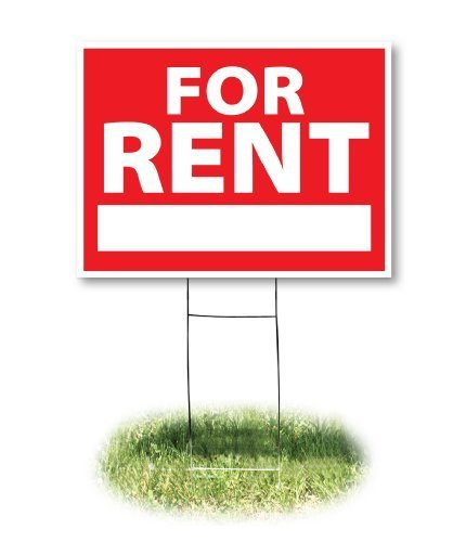 Headline Sign 4729 Yard Sign, For Rent, 18 Inches by 24 Inches Style: For Rent,