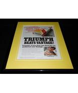1980 Triumph Filter Cigarettes Framed 11x14 ORIGINAL Advertisement - $32.36