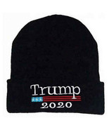 DONALD TRUMP 2020 Beanie Knit Hat Black NEW - $12.00
