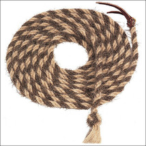Natural Brown 20Ft Weaver Leather Tail Hair Mecate Horse Hand Braided Re... - $72.22