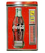 Drink Coca Cola Collectible Tin Box Vending Size 6.5 Inches Tall - $12.60