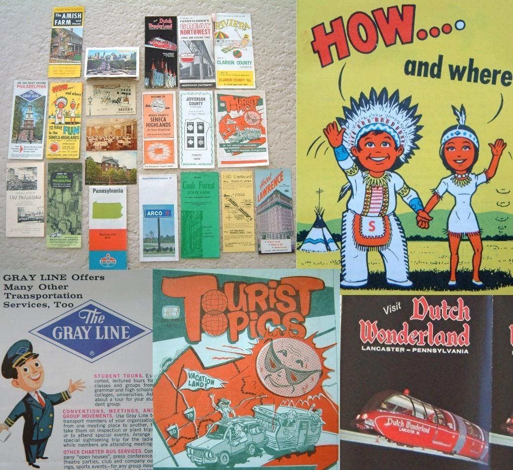 Vintage pennsylvania brochures postcards