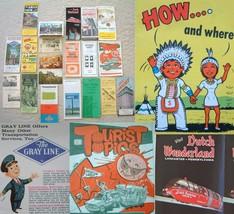 Lot Vintage Pennsylvania Brochures Highway Maps Postcards - $13.95