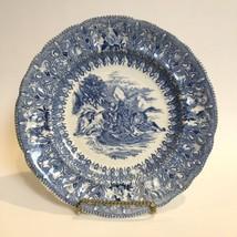Rare Antique Rorstrand Porcelain Factory Blue Transfer Ware Plate Faienc... - $74.13