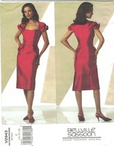 Vogue 2943 Bellville Sassoon Pattern Boned Cocktail Dress Size 4 6 8 Uncut  - $17.63