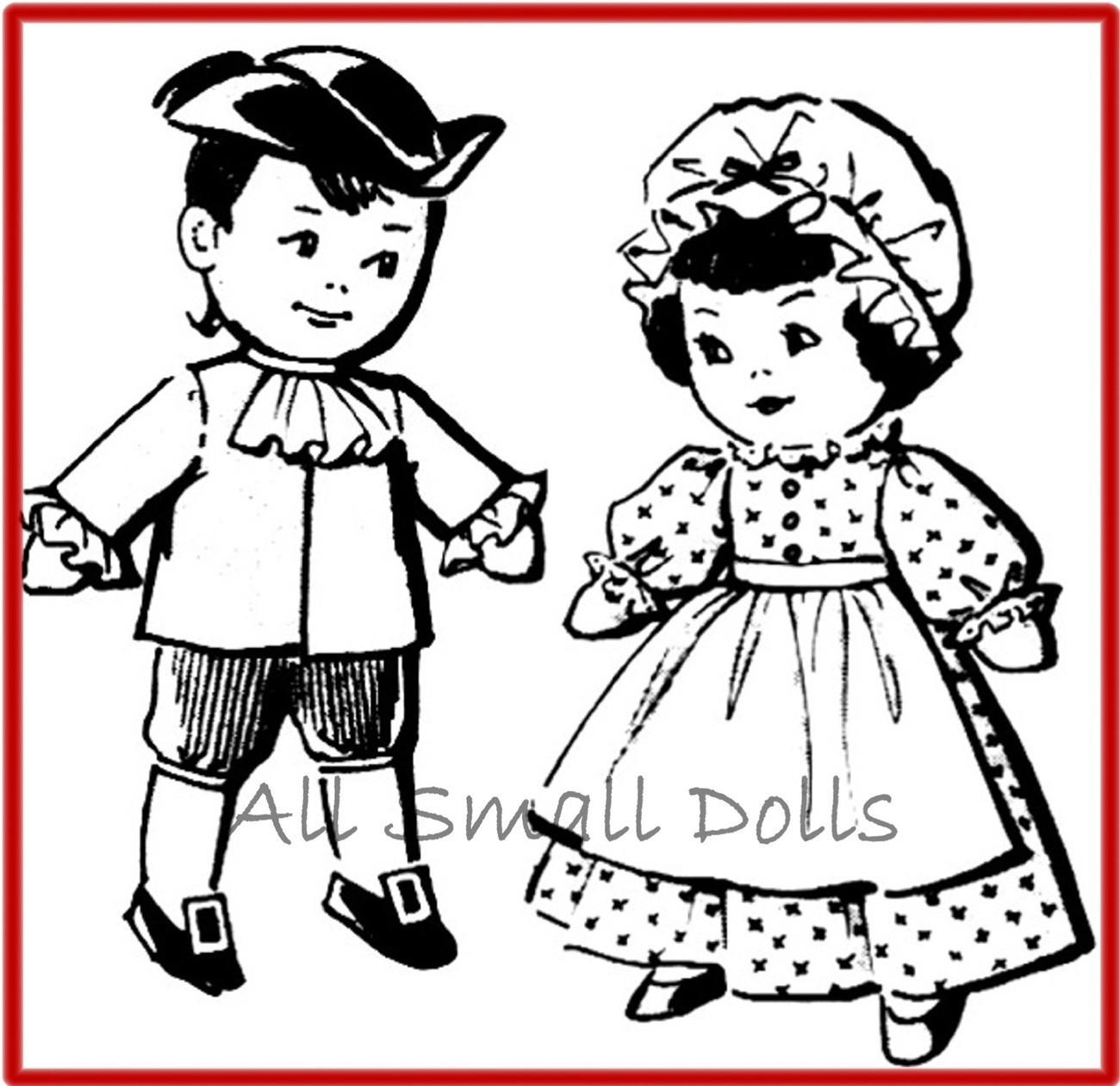 Vintage Pattern for Bicentennial Pilgram Sock Dolls Unbranded