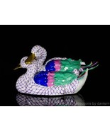 Herend Porcelain Medium Pair of Ducks Figurine, VHLM---15035, Lavender F... - $875.00