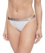 Calvin Klein Women's Icon Cotton High Leg Tanga, White, X-Large - $19.79