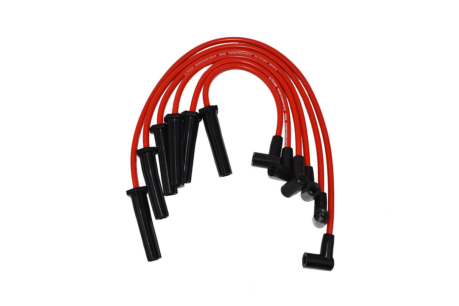 GMC Chevy 6 Cylinder 230 250 292 6 Cyl 8.0mm Red Silicone Spark Plug Wires Set