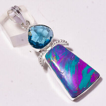 Rainbow Calsilica Faceted Iolite Gemstone Fashion Jewelry Pendant S-2.80... - $4.93