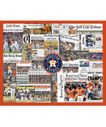 Houston Astros 2017 World Series Newspaper Collage Print Art. Framed or ... - $24.99+