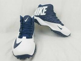 Nike Zoom 3/4 Top White/Blue Football Turf Cleats Shoe - $64.34