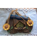 Happy Harvest Time Wall Decoration Solid Wood and Metal Pumpkin .i - $12.50