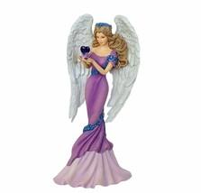 Thomas Kinkade Angel of Caring figurine purple heart painter light cottage gift - $39.55