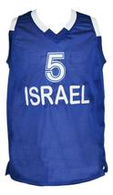 Custom Name # Team Israel Basketball Jersey New Sewn Blue Any Size image 1